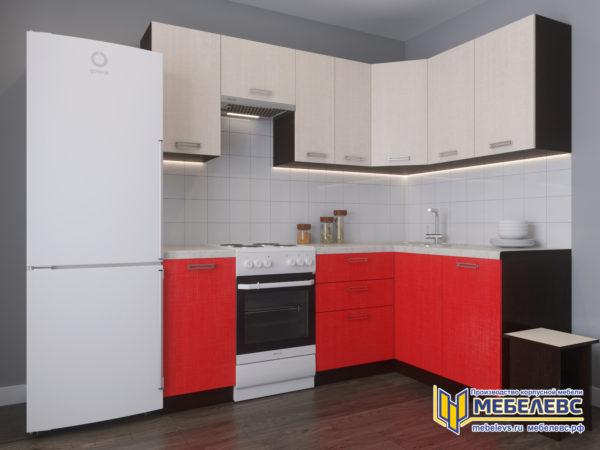 Модульная кухня «Лада» Артекс ЛДСП Кремовый/Чили