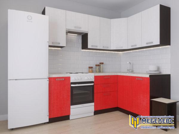 Модульная кухня «Лада» Артекс ЛДСП Белоснежный/Чили