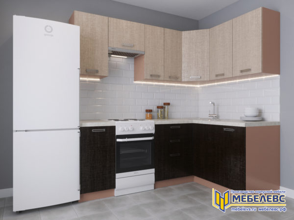 Модульная кухня «Лада» Артекс ЛДСП Имбирь/Арабика