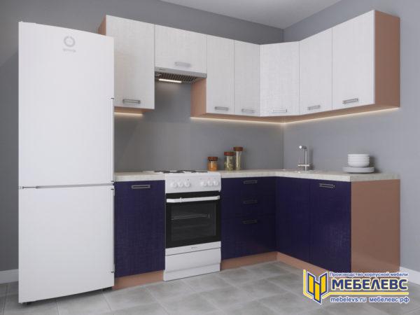 Модульная кухня «Лада» Артекс ЛДСП Аметист/Белоснежный
